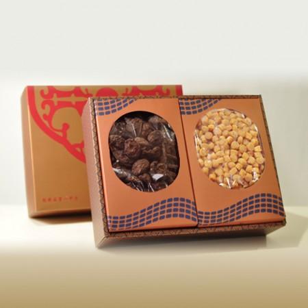 禮盒-招牌埔里冬菇300g+北海道干貝3S-600g