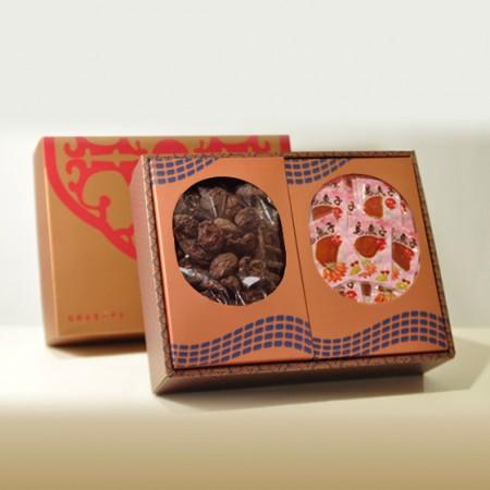 禮盒-招牌埔里冬菇300g+台灣野生一口吃烏魚子150g