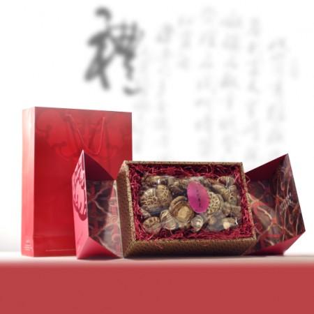 禮盒-特級韓國花菇-菇花面美得不像話-口感就像鮑魚-500g