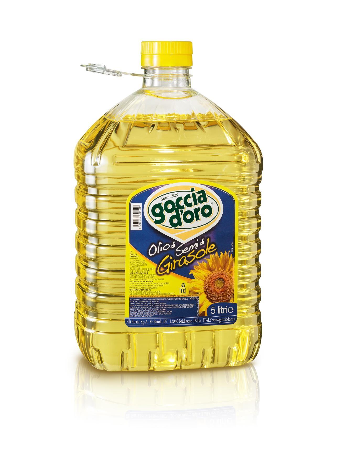 義大利得康冷壓純葵花油-5公升
