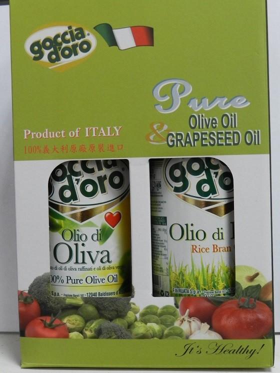 義大利得康純橄欖油(1公升)+義大利得康純玄米油(1公升)