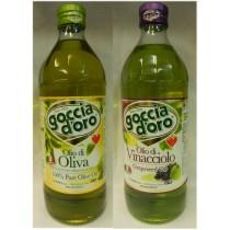 義大利得康純橄欖油(1公升)+特級葡萄籽油(1公升)